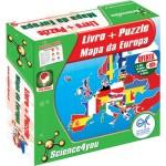 Pzzle+Livro Mapa da Europa
